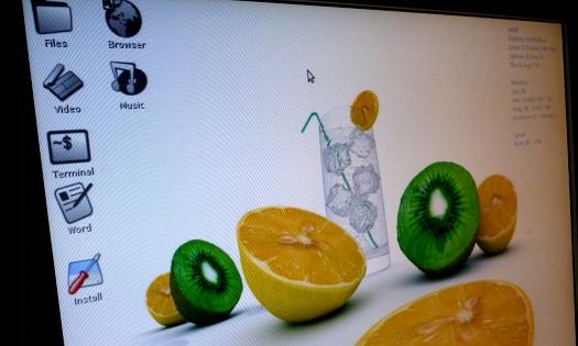 Bildschirm zeigt Desktop von AntiX