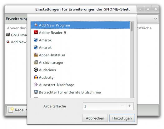 Gnome-Erweiterung für die automatische Fensterplatzierung