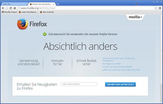 Chrome als Firefox verkleidet