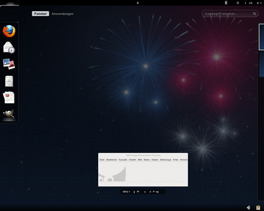 Screenshot Fedora-Gnome-Shell