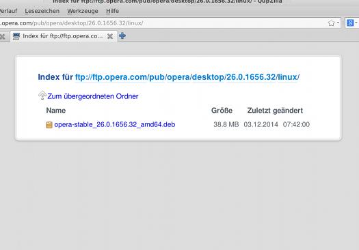 fast leeres Opera-FTP-Verzeichnis