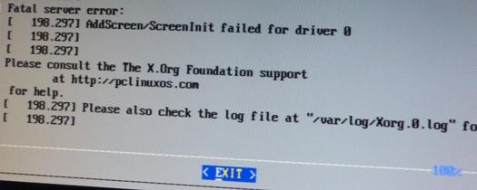 X-Server-Fehlermeldung