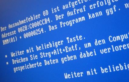 Windows-Bluescreen, Weiter mit beliebiger Taste