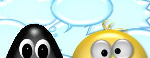Augen vor Sprechblasen