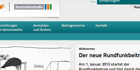 Screenshot rundfunkbeitrag.de