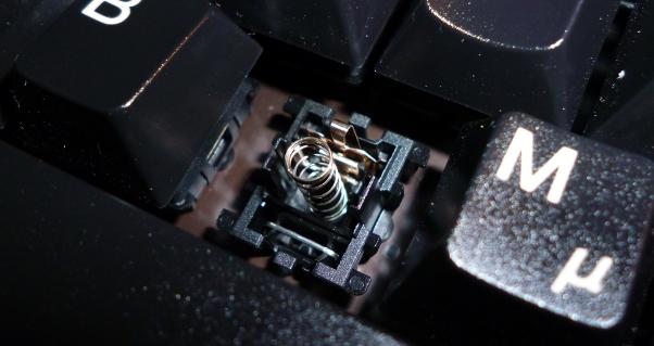 Sprungfeder in einem mechanischen Schalter