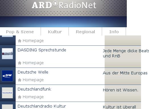 Deutsche Welle im ARD Radionet