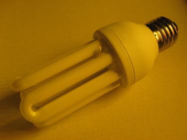 Energiesparlampe in ihrer ursprünglichen Form
