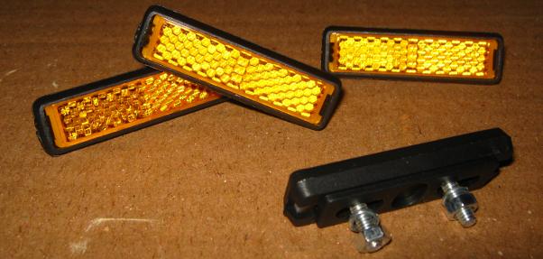 Pedalreflektoren zum Anschrauben
