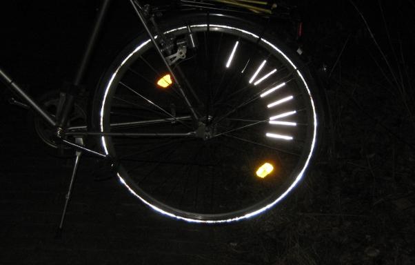 Hinterrad bei Nacht