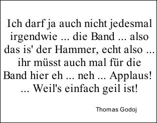 Zitat Thomas Godoj, 3. Mottoshow DSDS