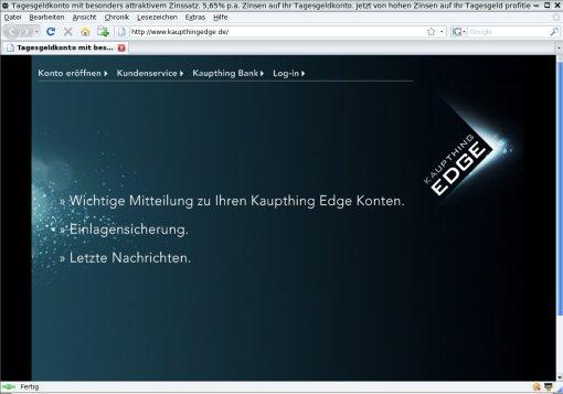 Kaupthing-Edge-Startseite