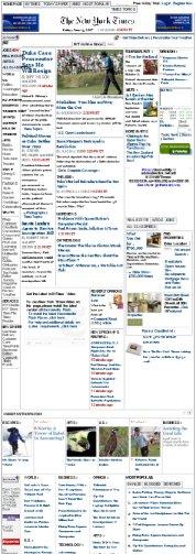 Online-Titelseite der NY Times