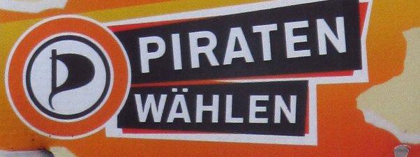 Plakatausschnitt: Piraten wählen