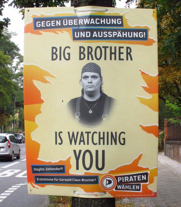Wahlplakat Gerwald Claus-Brunner