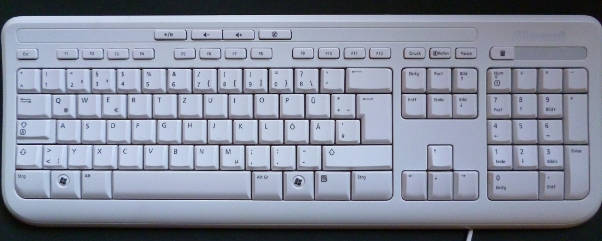 Tastatur in computerweiß
