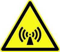 Warnzeichen: Nichtionisierende Strahlung