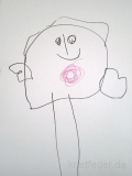 """Fiona, 3;5 Jahre: Vielen Dank für die Teilnahme am """"Bauchnabel-Experiment""""! Resultat wie so oft: Bauch und Kopf sind eins!"""